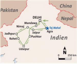 karte Zauberhaftes Rajasthan
