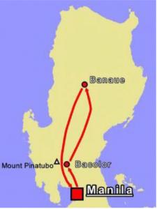 Reiseroute Terassen von Banaue