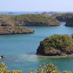blick auf kleine Inseln auf den Philippinen
