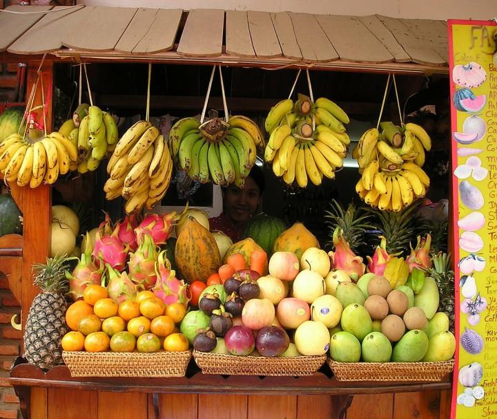Marktstand in Thailand