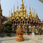Tempel, Thailand, Gold, Buddhismus, Elefant, Royal Cities, Klassisches Nordthailand