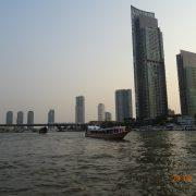 Bangkok, Dinnercruise, Schiff, Boot, Hochhaus, Wolkenkratzer, Fluss, Chao Phraya, Hotel, Thailand, Asien
