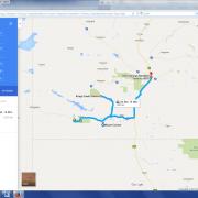 Karte: Australien- Campingsafari rotes Zentrum