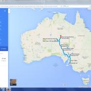 Karte: Australien- Campingtour Opale & Outback