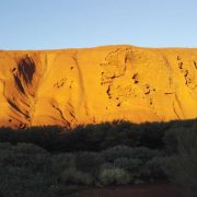 Australien, Outback, Uluru, Ayers Rock, Sonne, beleuchtet, Gras