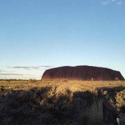Australien, Outback, Uluru, Ayers Rock, Gras, Draufsicht, Sunset, Sonnenuntergang
