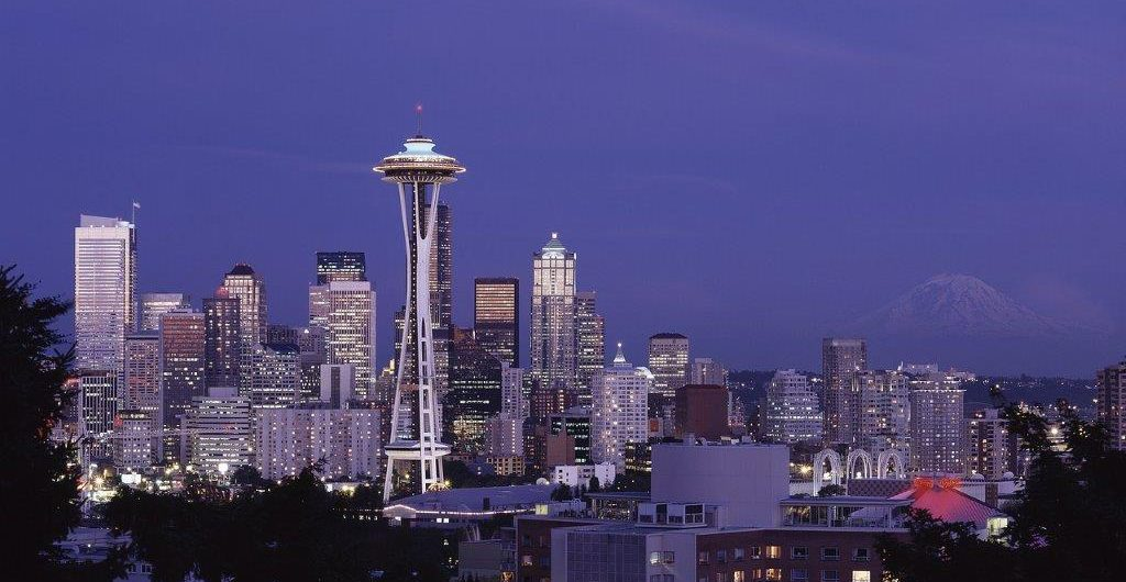 Seattle, USA, Space Needle, Annette Hlawatsch, Skyline