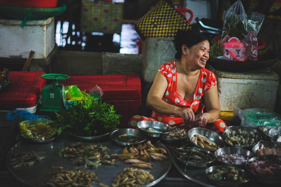 Mark, Ben Tre Market, Saigon, Mekong Delta, Lebensfreue, lächeln, Fisch, Meeresfrüchte, Food Tour, Rundreise, Kleingruppe, traditionell, exotisch, Land und Leute, Backpacker, Vietnam