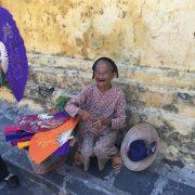 Lebensfreude, Frau, Vietnam, Asien, Südostasien, alt, Tradition, Hoi An, Land und Leute, lächeln