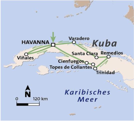 Kuba Karte Rundreise.Kuba Faszination Kuba