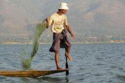 Inle Lake, Myanmar, Einbeinruderer