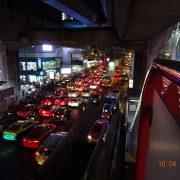Bangkok, Thailand, Straße, Nacht, Rush Hour, Asien, Auto, Verkehr, Stadt
