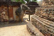 Tempel, Thailand, Statue, Buddha, Buddhismus, Rundreise, UNESCO, Elefant, Sukothai, Royal Cities, Klassisches Nordthailand