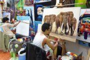 Royal Cities, Klassisches Nordthailand, Thailand, Thai, landestypisch, Mann, Kunst, Künstler, Elefant, Maler