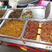 Thailand, Markt, Essen, Insekten, Schaben, Maden, Heuschrecken, Ungeziefer, Tradition, landestypisch, Rundreise, Asien