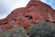 Australien, Outback, Uluru, Ayers Rock, Bäume, Geröll, Felsbrocken